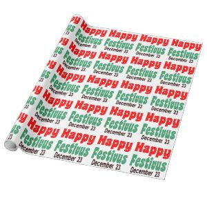 Happy Festivus Wrapping Paper for Holiday
