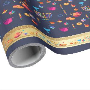 Happy Hanukkah Party Beautiful Decoration Wrapping Paper