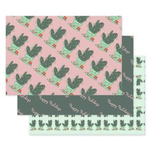 Happy Holidays Cactus Wrapping Paper