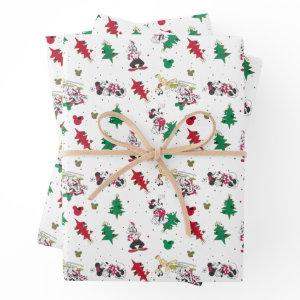 Happy Holidays | Christmas Mickey Mouse & Friends Wrapping Paper Sheets