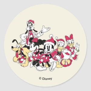 Happy Holidays | Mickey & Friends Christmas Cheer Classic Round Sticker