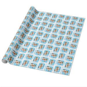 Happy Howliday Brittany Wrapping Paper