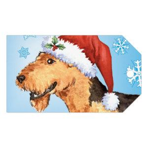 Happy Howlidays Airedale Gift Tags