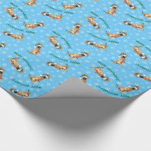 Happy Howlidays Belgian Malinois Wrapping Paper