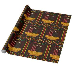 Happy Kwanzaa PopArt Wrapping Paper