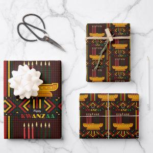 Happy Kwanzaa PopArt Wrapping Paper Sheets