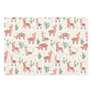 Happy Llama Wrapping Paper Sheets