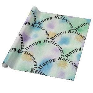 Happy Retirement Colorful Wrapping Paper