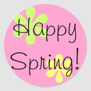 Happy Spring! Classic Round Sticker