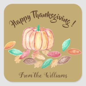 Happy Thanksgiving personalized family stickers
