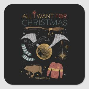 HARRY POTTER™ All I Want For Christmas Square Sticker