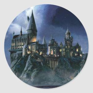 Harry Potter Castle | Moonlit Hogwarts Classic Round Sticker