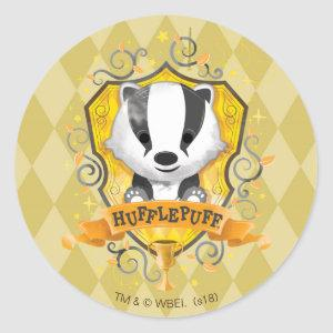 Harry Potter | Charming HUFFLEPUFF™ Crest Classic Round Sticker