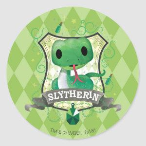 Harry Potter | Charming SLYTHERIN™ Crest Classic Round Sticker