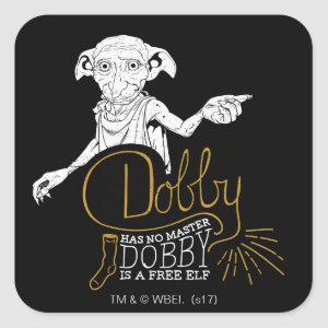 Harry Potter | Dobby Has No Master Square Sticker