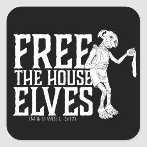 Harry Potter | Free The House Elves Square Sticker