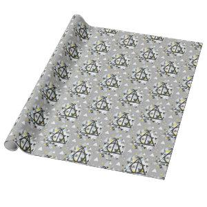 Harry Potter | Geometric Deathly Hallows Symbol Wrapping Paper