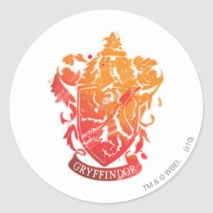 Harry Potter | Gryffindor Crest - Splattered Classic Round Sticker