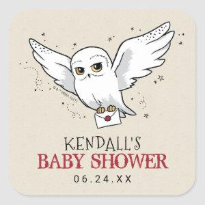 Harry Potter | Hedwig Baby Shower Square Sticker