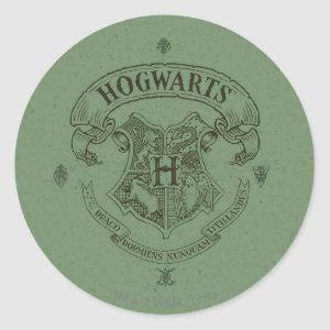 Harry Potter | Hogwarts Banner Crest Classic Round Sticker