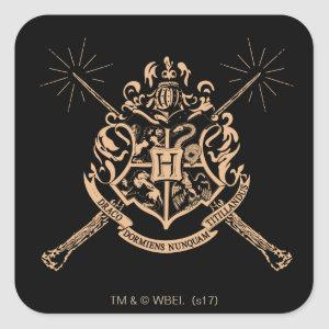 Harry Potter | Hogwarts Crossed Wands Crest Square Sticker