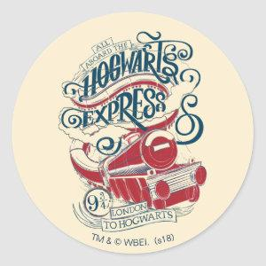 Harry Potter | Hogwarts Express Typography Classic Round Sticker