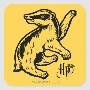 Harry Potter | Hufflepuff Badger Icon Square Sticker