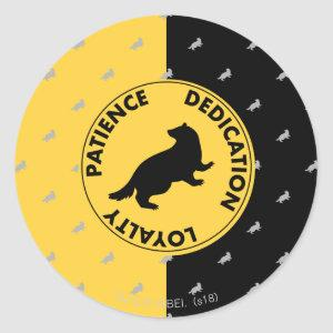 Harry Potter | HUFFLEPUFF™ House Traits Graphic Classic Round Sticker