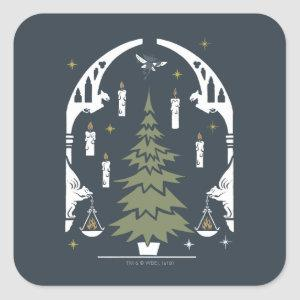 HARRY POTTER™ Magical Christmas Tree Square Sticker