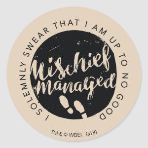 Harry Potter | Marauder's Map Charms Typography Classic Round Sticker