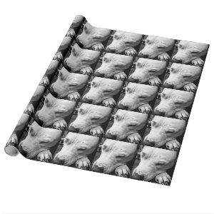 harry potter scar dog white pit bull wrapping paper
