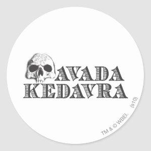 Harry Potter Spell | Avada Kedavra Classic Round Sticker