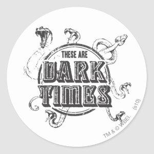 Harry Potter Spell | Dark Times Classic Round Sticker