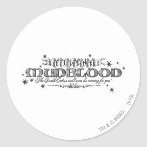 Harry Potter Spell | Filthy Mudblood Classic Round Sticker