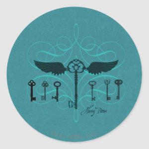 Harry Potter Spell | Flying Keys Classic Round Sticker
