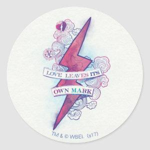 Harry Potter Spell | Love Leaves Its Own Mark Classic Round Sticker