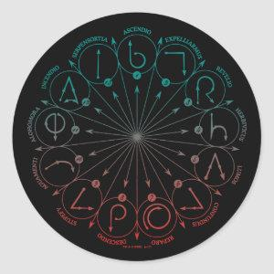 Harry Potter Spell | Spells & Charms Statement C Classic Round Sticker