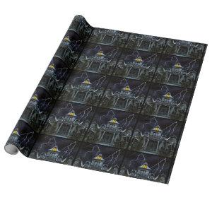 Haunted House Halloween Wrapping Paper