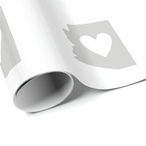 Heart Arizona state silhouette Wrapping Paper