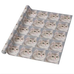 Heavy Breathing Cat Wrapping Paper