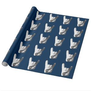 Heavy Metal Hand Sign Wrapping Paper