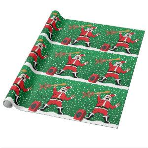 Heavy Metal Santa Wrapping Paper