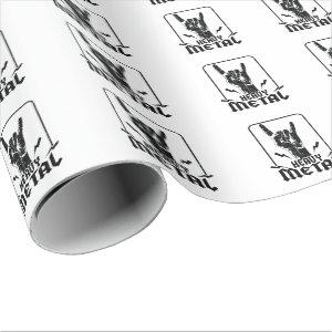 heavy metal wrapping paper