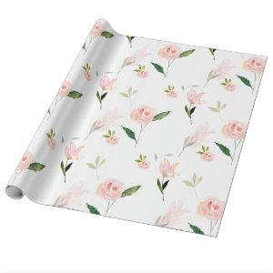 Hello Beautiful Watercolor Floral Wrapping Paper
