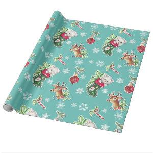 Hello Kitten Christmas Wrapping Paper