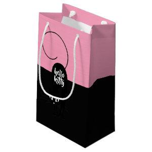Hello Kitty, Two Tone Pink and Black Small Gift Bag