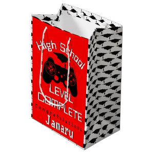 High School Level Complete| Gamer Graduation Medium Gift Bag