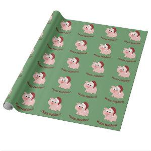 Hoggy Holidays! Wrapping Paper