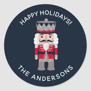 Holiday Christmas Red Black Nutcracker Sticker