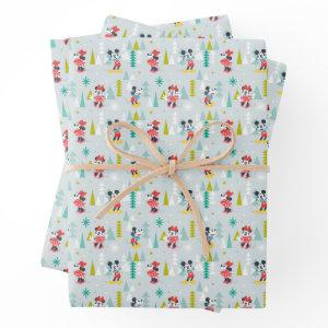 Holiday For All | Mickey & Minnie Christmas Wrapping Paper Sheets